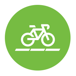 Icon of a bicycle